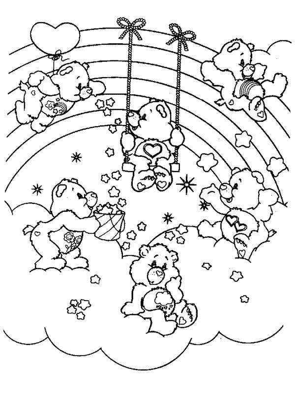 Coloriage bisounours arc en ciel dessin gratuit imprimer - Dessin de bisounours ...