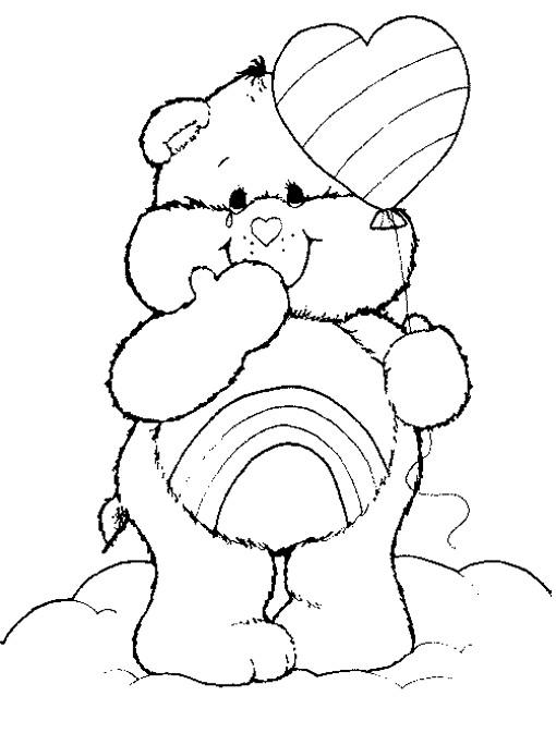 Coloriage et dessins gratuits Bisounours cheer bear à imprimer