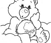 Coloriage et dessins gratuit Bisounours confus à imprimer