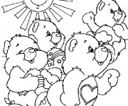 Coloriage Bisounours contents
