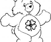 Coloriage et dessins gratuit Bisounours de bonne chance à imprimer
