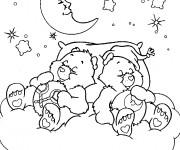 Coloriage et dessins gratuit Bisounours dorment à imprimer