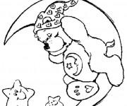 Coloriage et dessins gratuit Bisounours dort à imprimer