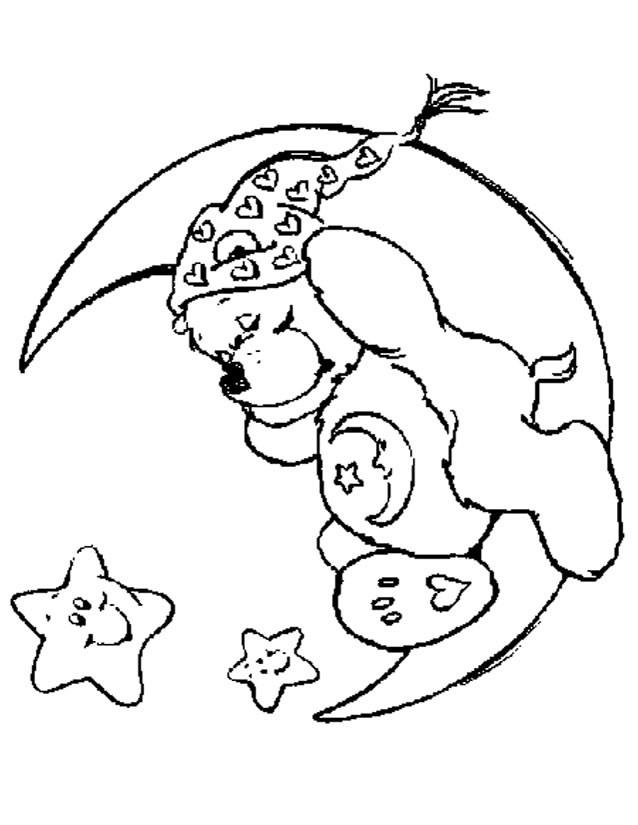 Coloriage et dessins gratuits Bisounours dort à imprimer