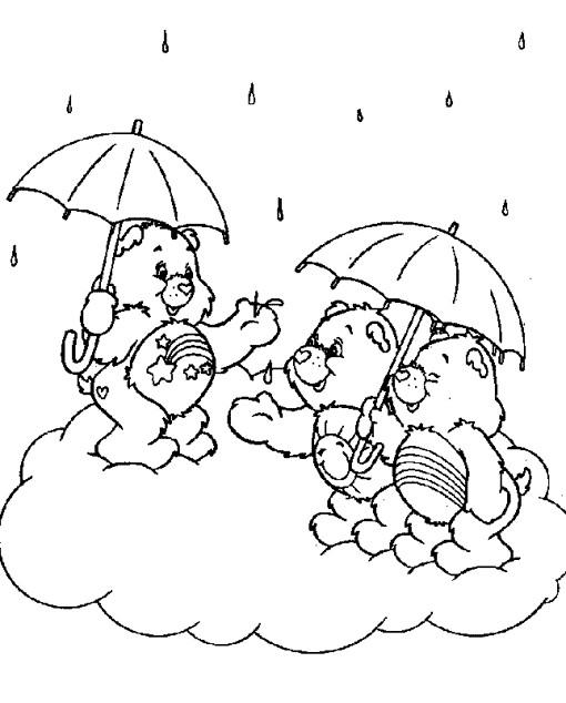 Coloriage et dessins gratuits Bisounours entrain de rire à imprimer