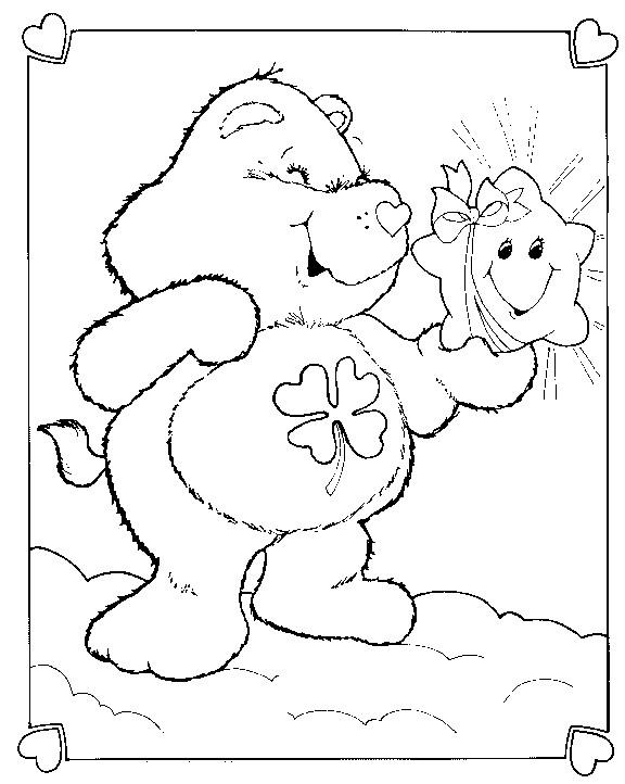 Coloriage et dessins gratuits Bisounours gratuit en ligne à imprimer