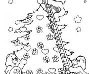 Coloriage et dessins gratuit Bisounours Noel à imprimer