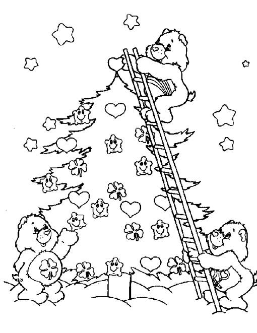 Coloriage et dessins gratuits Bisounours Noel à imprimer
