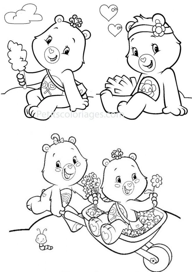 Coloriage et dessins gratuits Bisounours peluche à imprimer