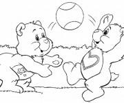 Coloriage et dessins gratuit Bisounours s'amusent à imprimer