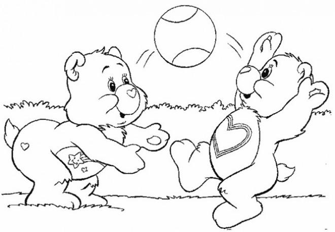 Coloriage et dessins gratuits Bisounours s'amusent à imprimer