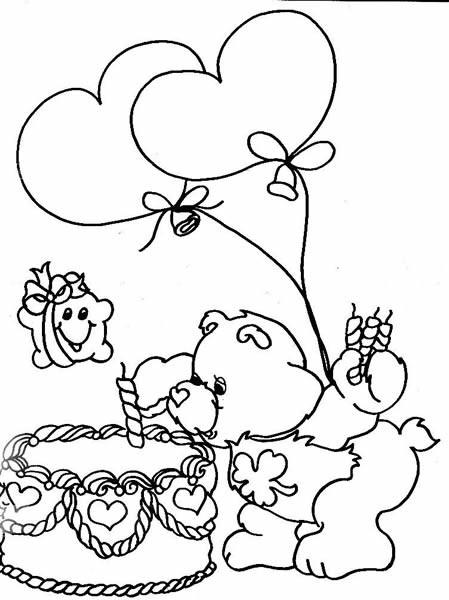 Coloriage et dessins gratuits Bisounours souffle une bougie à imprimer