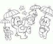 Coloriage et dessins gratuit Les Bisounours magiques à imprimer