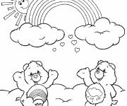 Coloriage et dessins gratuit Tougentil et Grognours s'amusent à imprimer