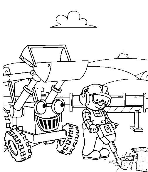 Coloriage bob le bricoleur dessin gratuit imprimer - Tom le tracteur dessin anime ...