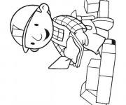 Coloriage et dessins gratuit Bob le bricoleur bricole à imprimer