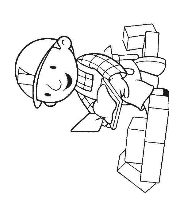Coloriage et dessins gratuits Bob le bricoleur bricole à imprimer