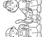 Coloriage et dessins gratuit Bob le bricoleur en compagnie de Zoé à imprimer