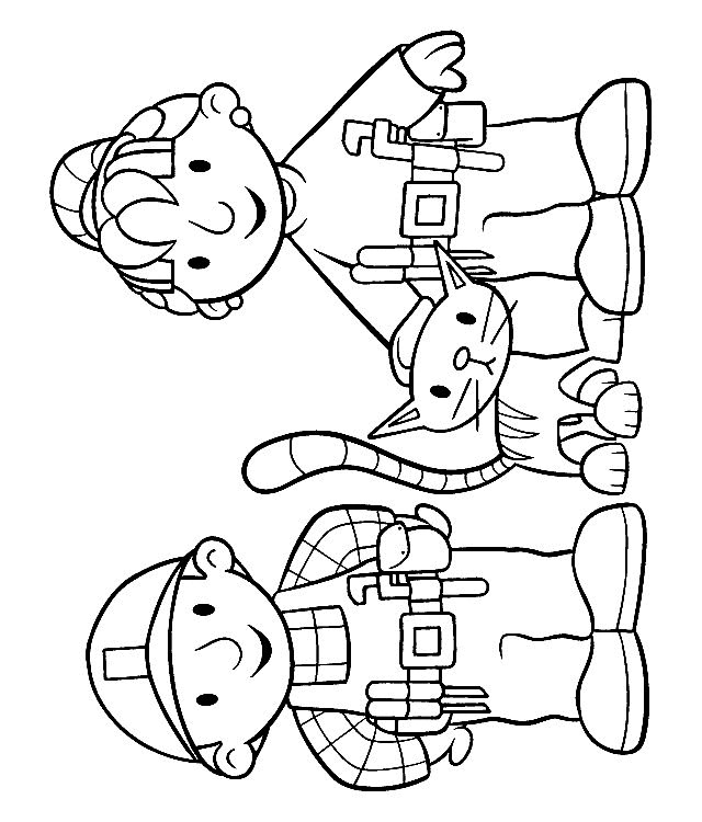 Coloriage et dessins gratuits Bob le bricoleur en compagnie de Zoé à imprimer