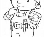 Coloriage et dessins gratuit Bob le bricoleur entrain de penser à imprimer