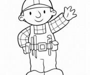 Coloriage et dessins gratuit Bob le bricoleur entrain de saluer à imprimer