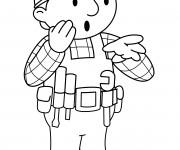 Coloriage et dessins gratuit Bob le bricoleur est surpris à imprimer