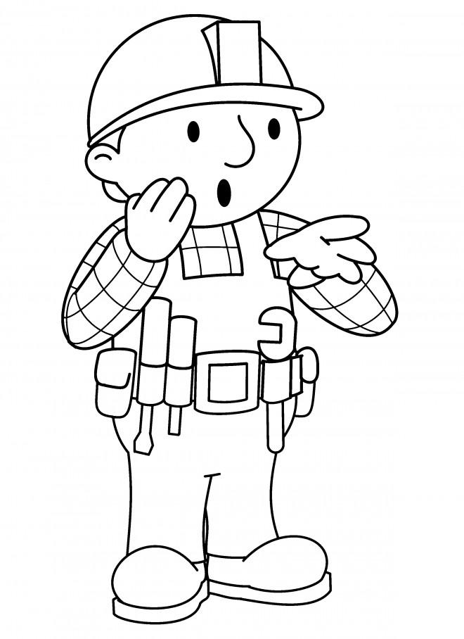 Coloriage et dessins gratuits Bob le bricoleur est surpris à imprimer