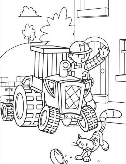 Coloriage et dessins gratuits Bob le bricoleur facile à colorier à imprimer