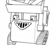 Coloriage Bob le bricoleur  Muck transportes des matériaux
