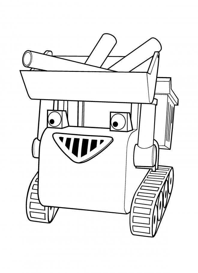 Coloriage et dessins gratuits Bob le bricoleur  Muck transportes des matériaux à imprimer