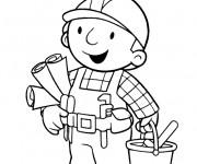 Coloriage et dessins gratuit Bob le bricoleur prêt à travailler à imprimer