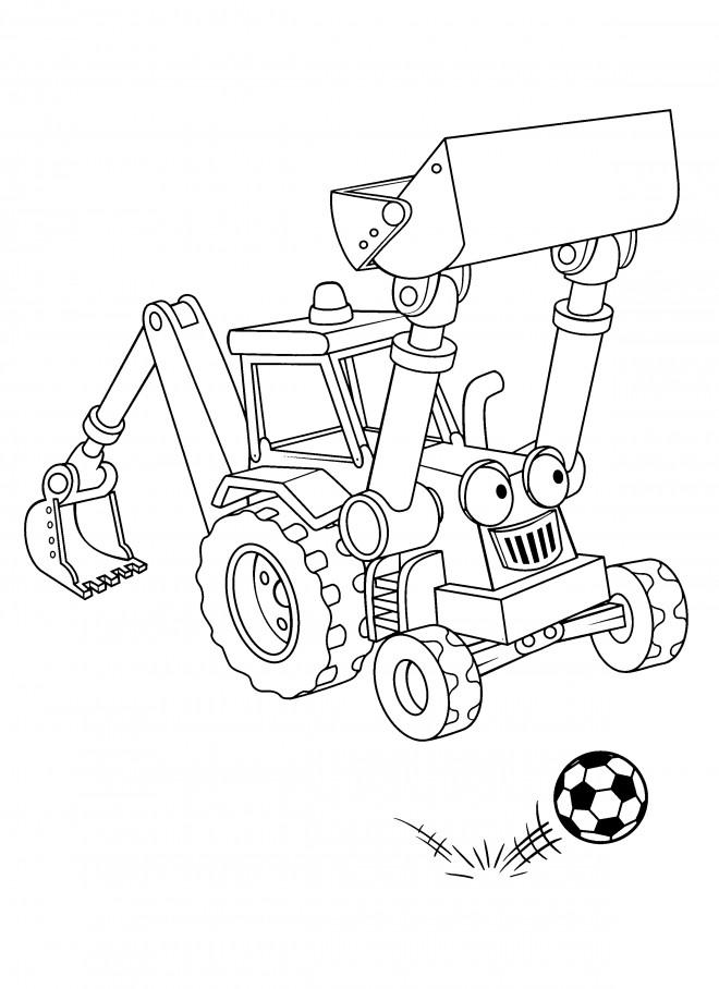 Coloriage et dessins gratuits Bob le bricoleur Scoup à imprimer