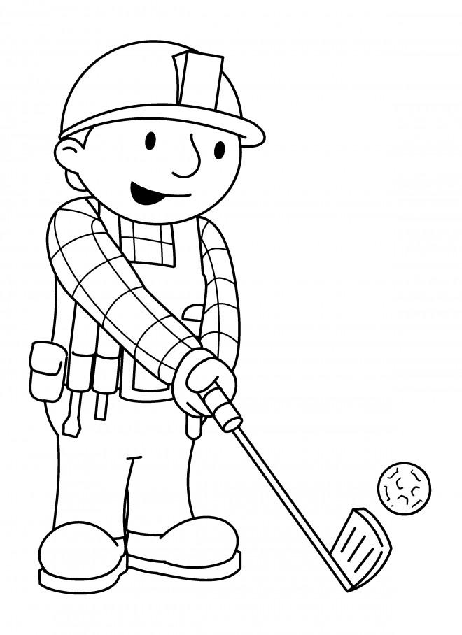 Coloriage et dessins gratuits Bob le bricoleur simple à imprimer