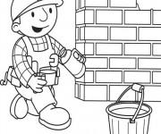 Coloriage et dessins gratuit Bob le bricoleur verse du café à imprimer