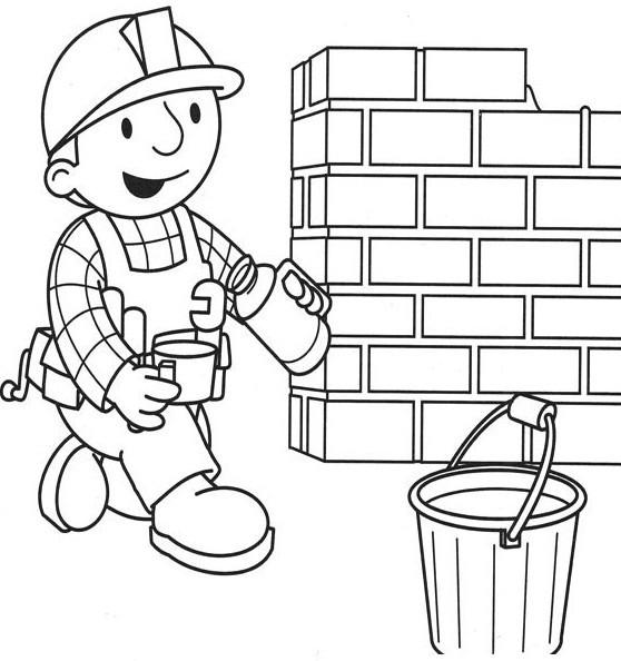 Coloriage et dessins gratuits Bob le bricoleur verse du café à imprimer
