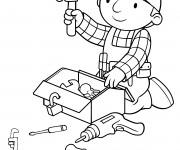 Coloriage dessin animé Bob le bricoleur