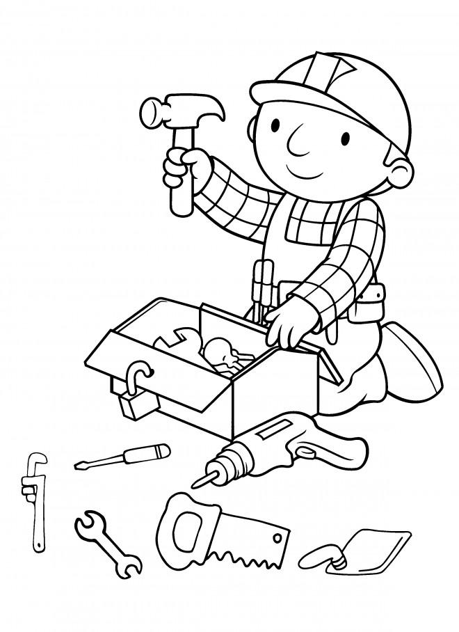 Coloriage dessin anim bob le bricoleur dessin gratuit - Bricoleur dessin ...