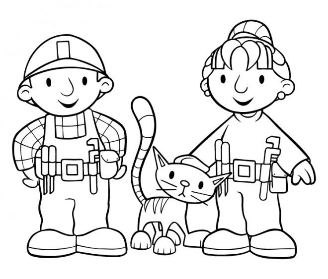Coloriage et dessins gratuits Zoé et bob le bricoleur gratuit à colorier à imprimer