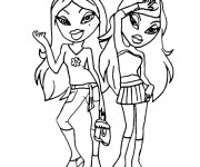 Coloriage Bratz et Barbie