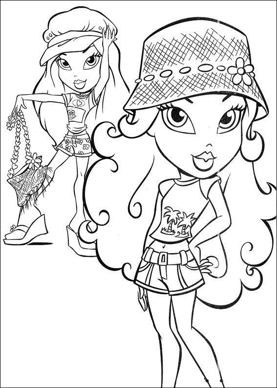 Coloriage et dessins gratuits Bratz Jade et Sasha à imprimer
