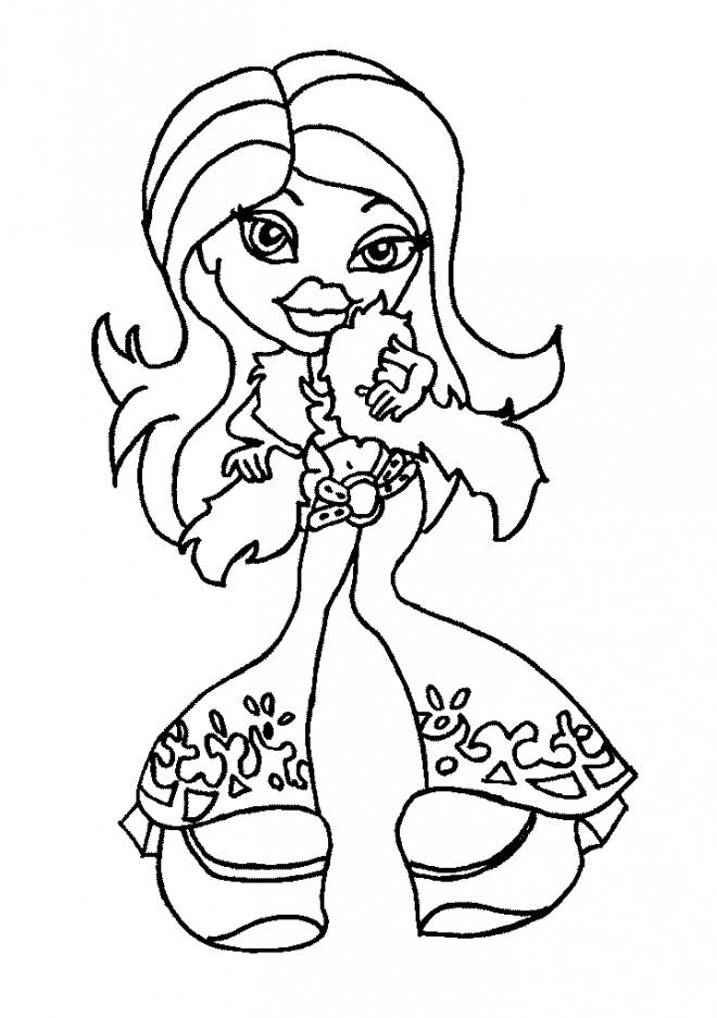 Coloriage et dessins gratuits Bratz Nevra te regarde à imprimer