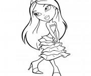Coloriage et dessins gratuit Bratz Princesse à imprimer