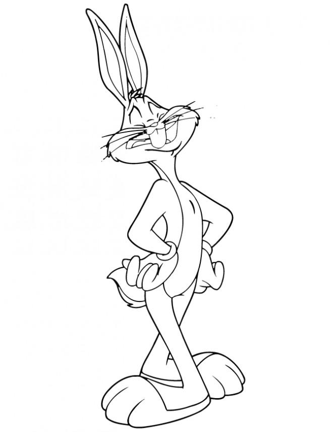 Coloriage et dessins gratuits Bugs Bunny lapin à imprimer