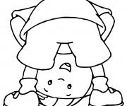Coloriage et dessins gratuit Caillou dessin animé à imprimer