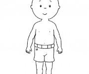 Coloriage et dessins gratuit Caillou sourit à imprimer