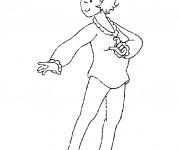 Coloriage et dessins gratuit La maman  de Caillou à imprimer