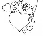 Coloriage Calimero amoureux dessin animé