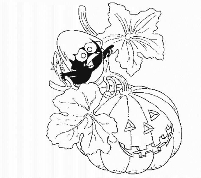 Coloriage et dessins gratuits Calimero en Halloween à imprimer