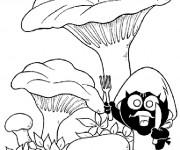 Coloriage et dessins gratuit Calimero entrain de manger à imprimer