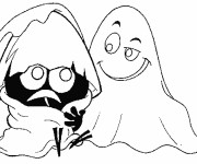 Coloriage et dessins gratuit Calimero et le fantome à imprimer